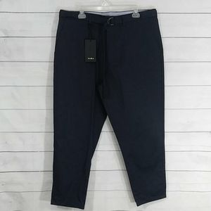 Zara Man loose dress navy blue pants size 36
